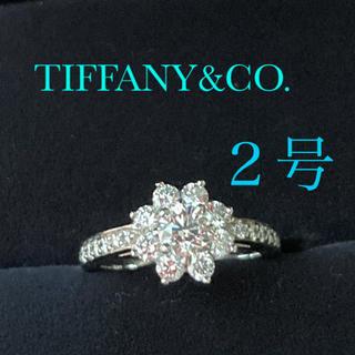 ティファニー(Tiffany & Co.)のティファニー フローラリング  pt950ダイヤリング(リング(指輪))