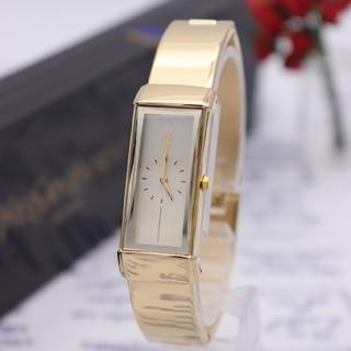 サンローラン(Saint Laurent)の箱付き【新品電池】YvesSaintLaurent/5421 バングル 動作品(腕時計)