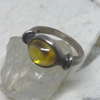 シルバー925指輪11月の誕生石 シトリン シルバーリング  宝石リング(リング(指輪))