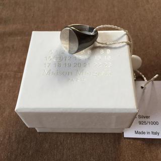 マルタンマルジェラ(Maison Martin Margiela)のL新品 メゾン マルジェラ 2トーン リング シルバー ブラック メンズ 指輪(リング(指輪))