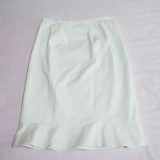 ワールドベーシック(WORLD BASIC)のルイシャンタン ホワイト スカート(ひざ丈スカート)