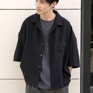 ハレ(HARE)のBASQUE magenta ドレープ リラックス オープンカラーシャツ(シャツ)