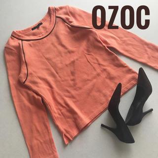 オゾック(OZOC)の美品★OZOC オゾック ライン入り トップス(カットソー(長袖/七分))