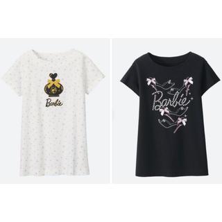 バービー(Barbie)の1回着☆ユニクロBarbieロング丈半袖Tシャツ2着セットバービーUTGU(Tシャツ/カットソー)