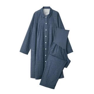 ムジルシリョウヒン(MUJI (無印良品))の 新品   無印良品  脇に縫い目のない二重ガーゼ授乳に便利な長袖パジャマ (マタニティパジャマ)