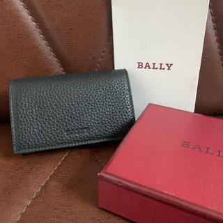 バリー(Bally)の新品 BALLY バリー 名刺入れ カードケース レザー ブラック(名刺入れ/定期入れ)