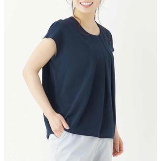 インデックス(INDEX)の新品同様!インデックスのブラウス(紺)(シャツ/ブラウス(半袖/袖なし))