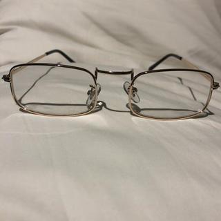 アヤメ(Ayame)のvintage スクエアフレーム 伊達眼鏡 メガネ(サングラス/メガネ)