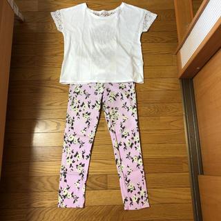 ディップドロップス(Dip Drops)の花柄パンツとTシャツ(スキニーパンツ)