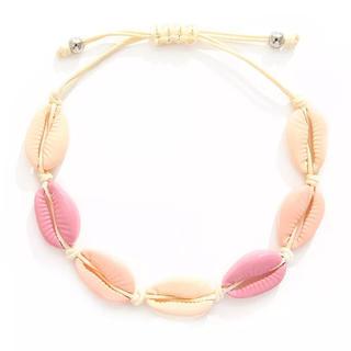 シールームリン(SeaRoomlynn)の◇カウリーシェル 貝殻 カラフル ブレスレット 色:ピンク◇(ブレスレット/バングル)