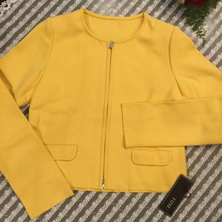 フォクシー(FOXEY)のフォクシー42新品未使用ニットジャケット カーディガン(ノーカラージャケット)