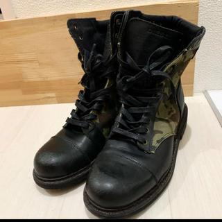 ディーゼル(DIESEL)のディーゼル DIESEL 迷彩 ブーツ 40(ブーツ)