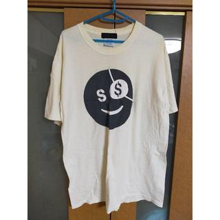 スライ(SLY)の【売り尽くし】SLYZ 白 スマイルロゴTシャツ ビッグT ストリート系(Tシャツ/カットソー(半袖/袖なし))