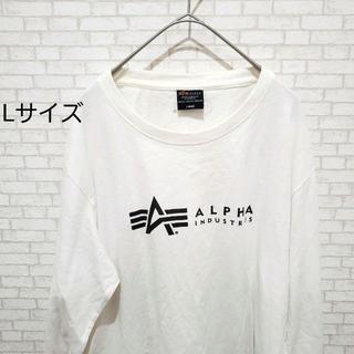 アルファ(alpha)のALPHA ロゴTシャツ ビックシルエット ロング(Tシャツ/カットソー(七分/長袖))