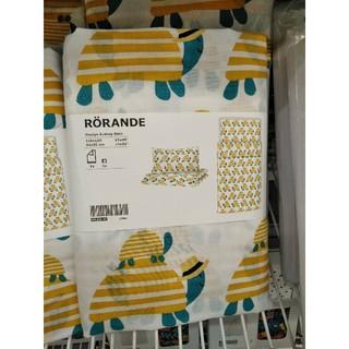 イケア(IKEA)のIKEAかわいい子供用掛け布団カバー&枕カバー  ローランデ(カメ イエロー)(シーツ/カバー)