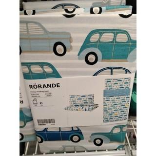 イケア(IKEA)のIKEAかわいい子供用掛け布団カバー&枕カバー  ローランデ(自動車 ブルー)(シーツ/カバー)