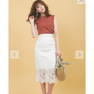 トランテアンソンドゥモード(31 Sons de mode)の31☆トランテアン☆レースロングスカート新品タグ付き(ロングスカート)