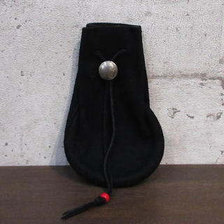ゴローズ(goro's)のgoro's ゴローズ 巾着 L ブラック 黒 美品 本物 正規品 返金保証付(ウエストポーチ)
