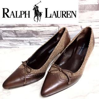 ラルフローレン(Ralph Lauren)の【ポインテッドトゥ!人気のラルフ!】RALPH LAURENレザー切替パンプス!(ハイヒール/パンプス)