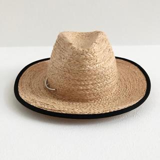 ドゥーズィエムクラス(DEUXIEME CLASSE)のMAZZANTI イタリア製 ラフィア中折れ帽 (麦わら帽子/ストローハット)