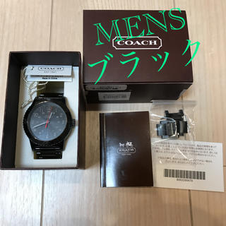 コーチ(COACH)のcoach コーチ 腕時計 メンズ ブラック(腕時計(デジタル))