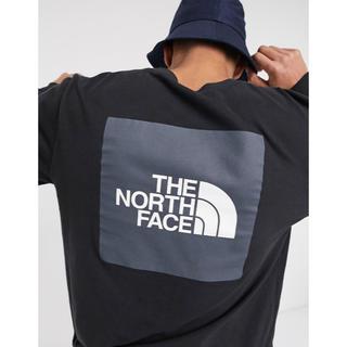 ザノースフェイス(THE NORTH FACE)の【Mサイズ】THE NORTH FACE レッドボックス ロンT ブラック(Tシャツ/カットソー(半袖/袖なし))