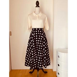 ドットアンドストライプスチャイルドウーマン(Dot&Stripes CHILDWOMAN)のブロードドットプリントサーキュラースカート(ロングスカート)