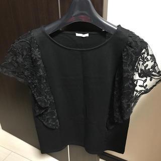ジーユー(GU)のGU チュールフレアスリーブT(Tシャツ(半袖/袖なし))
