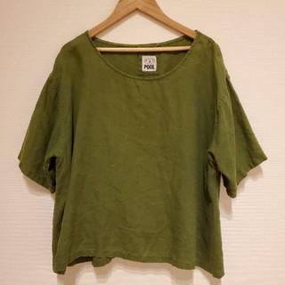 イデー(IDEE)のPOOL いろいろの服 ブラウス グリーン(シャツ/ブラウス(半袖/袖なし))