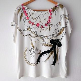 ツモリチサト(TSUMORI CHISATO)のツモリチサト③  リボンTシャツ(Tシャツ(半袖/袖なし))
