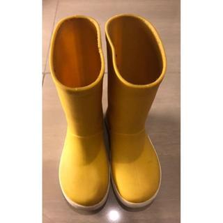 ザラキッズ(ZARA KIDS)のジャンボ様予約 美品 ZARA キッズ長靴 レインブーツ 126/EU36 黄色(長靴/レインシューズ)
