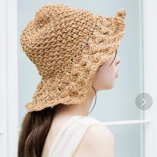 カスタネ(Kastane)のペーパーBIG HAT(麦わら帽子/ストローハット)