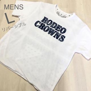 ロデオクラウンズワイドボウル(RODEO CROWNS WIDE BOWL)のメンズL✨RODEO CROWNS ロデオクラウンズ❤️バンダナ柄リバーシブル(Tシャツ/カットソー(半袖/袖なし))