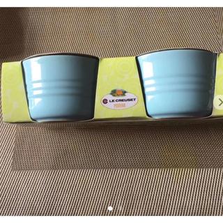ルクルーゼ(LE CREUSET)のルクルーゼ ラムカンL 2個セット ペパーミントブルー 日本未発売☆新品未使用☆(容器)