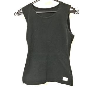 マリークワント(MARY QUANT)のマリークワント ノースリーブTシャツ 黒(Tシャツ(半袖/袖なし))