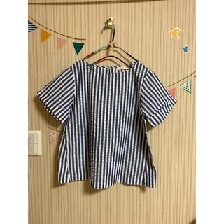 ショコラフィネローブ(chocol raffine robe)のストライプブラウス✧︎*。(シャツ/ブラウス(半袖/袖なし))