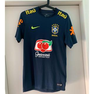 ナイキ(NIKE)のサッカー ブラジル代表トレーニングトップ fcrb nikefc ゲームシャツ(ウェア)