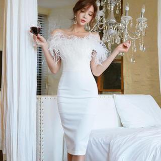 キャバ ドレス オフショル  ホワイト❤︎(ナイトドレス)