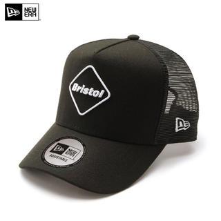 F.C.R.B. - FCRB 20AW NEW ERA EMBLEM MESH CAP BLACK