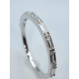新品❗️K18WG ホワイトゴールド 0.27ct ダイヤモンド リング (リング(指輪))