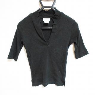 アニエスベー(agnes b.)のアニエスベー 半袖カットソー サイズ2 M 黒(カットソー(半袖/袖なし))