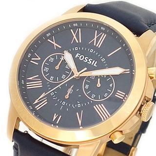 フォッシル(FOSSIL)のフォッシル腕時計 メンズ FS4835IEグラント クォーツ ネイビー(腕時計(アナログ))
