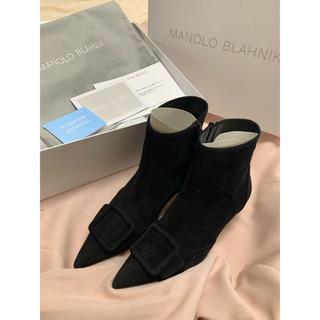 ドゥロワー(Drawer)のDrawer マノロブラニク ブーツ 黒 サイズ37(ブーツ)