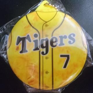 ハンシンタイガース(阪神タイガース)の阪神タイガース 缶バッジキーホルダー 糸井嘉男(応援グッズ)