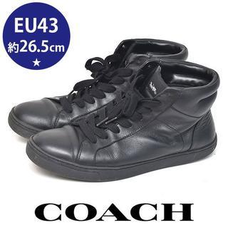 コーチ(COACH)のコーチ ハイカット メンズスニーカー EU43(約26.5cm)(スニーカー)