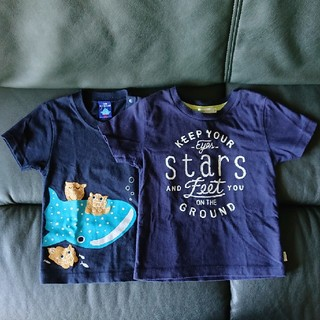 ビームス(BEAMS)のBEAMS mini & 美ら海水族館 ジンベイザメ 半袖Tシャツ 90cm(Tシャツ/カットソー)
