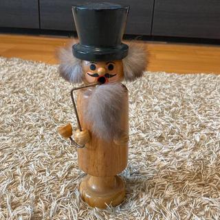 アクタス(ACTUS)のドイツヴィンテージ・ロイヒャーマン 煙吐き人形 木彫り クリスマス(インテリア雑貨)