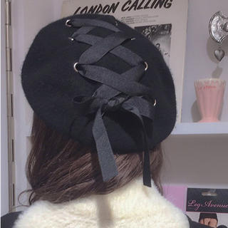 リズリサ(LIZ LISA)の編み上げベレー帽(ハンチング/ベレー帽)