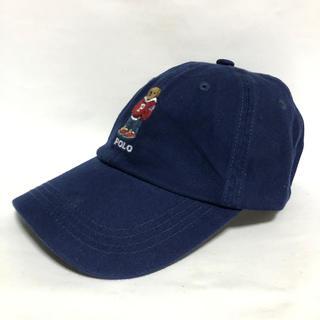 ポロラルフローレン(POLO RALPH LAUREN)のPOLOラルフローレン★ポロベアー★ネイビー キャップ 帽子(キャップ)