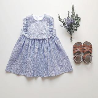 キャラメルベビー&チャイルド(Caramel baby&child )の完売June little closet スクエアフリルワンピース(ワンピース)